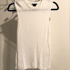 Theory white sleeveless top size small